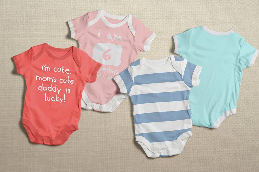 Baby Bodysuit Clothing Mock-up - 0