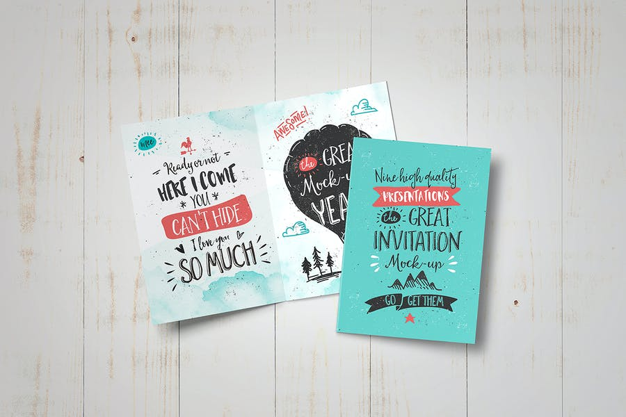 Invitation / Greeting Card Mock-Up - 1