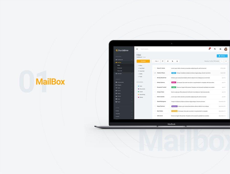DashBee - CMS Dashboard UI Kit - 1