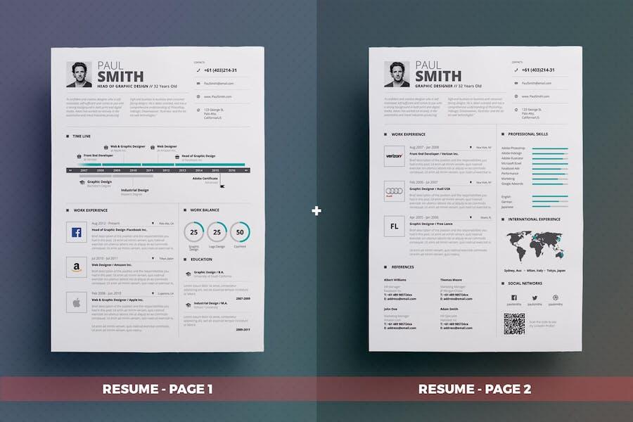 Infographic Resume/Cv Volume 5 - 1