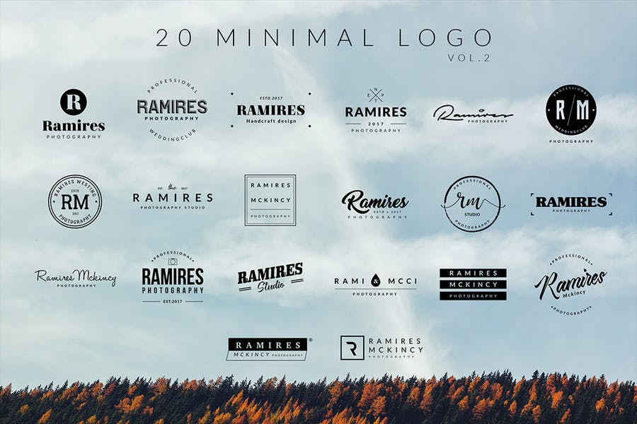 100 Minimal logos - 1