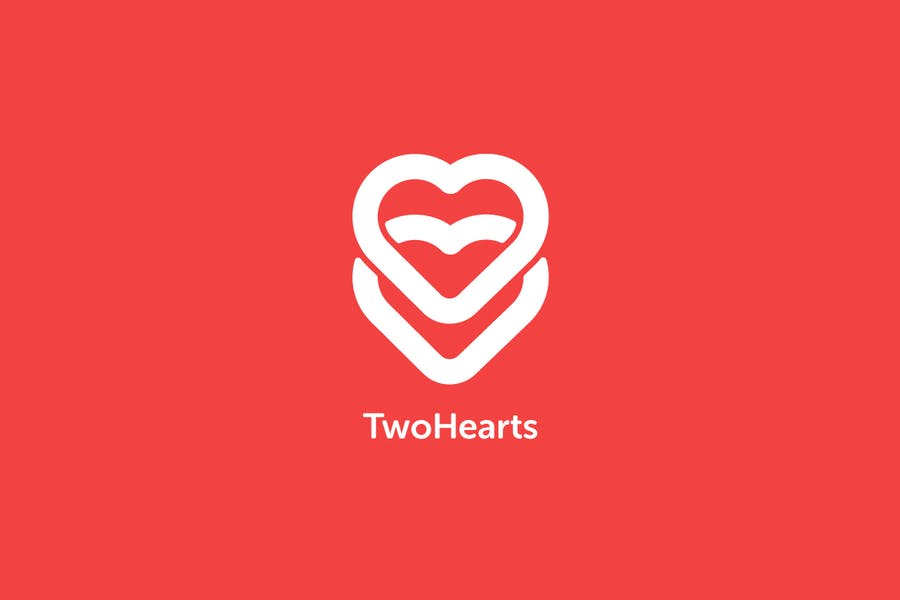 Two Hearts Logo Template - 2
