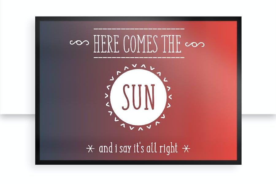SUNN Line Serif Extended Font - 2