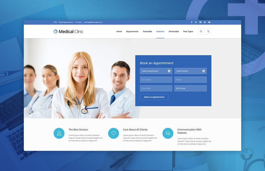 Medical Clinic - Health & Doctor Medical WP Theme - 3