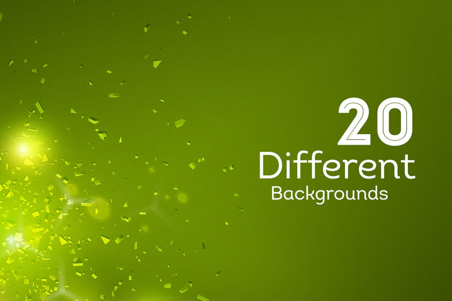 Light Particles Backgrounds - 1