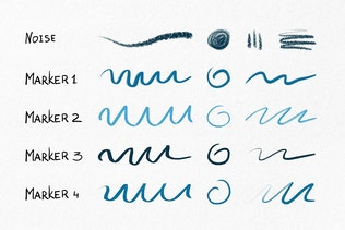 Hand Drawn Brushes for Procreate - 2