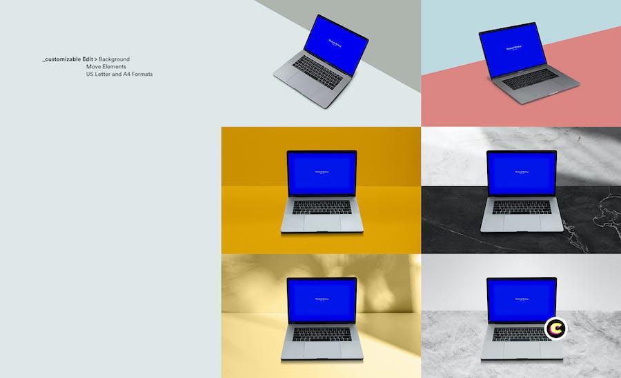 Macbook Laptop Display Web App Mock-Up - 0