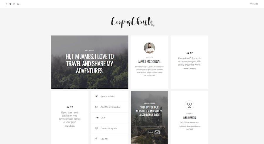 CorpusChristi - Modern Blog WordPress Theme - 0