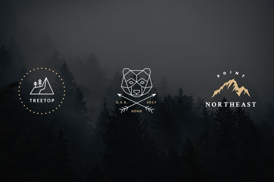 Vintage Outdoor Travel Logos - 1