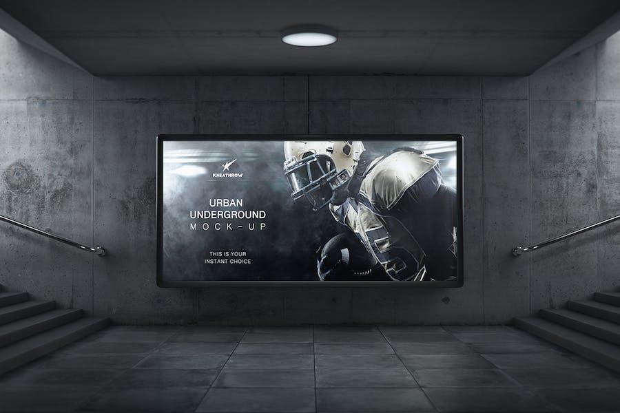 Urban Underground Lightbox / Billboard Mock-Ups - 3