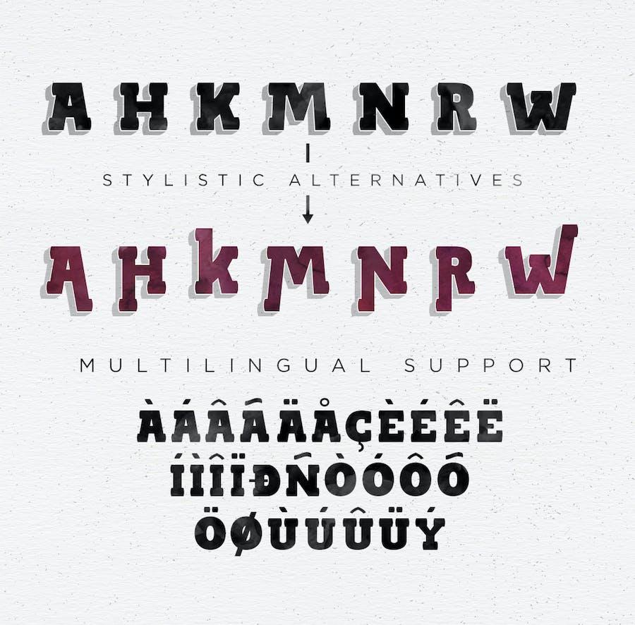 BLACKY Typeface - 1