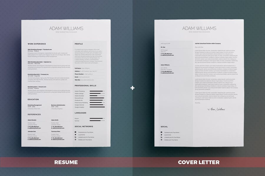 Simple Resume/Cv Volume 4 - 1