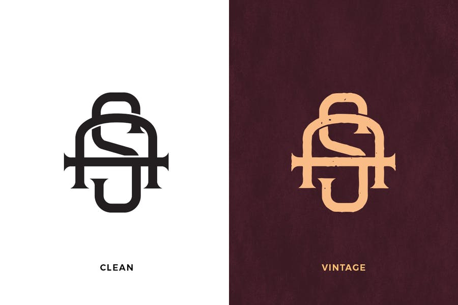 AS Vintage Monogram Logo - 0