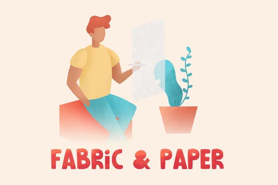 Fabric & Paper Procreate Brushes - 1