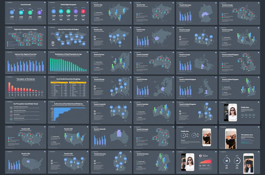 Social Media Trends - Powerpoint Template - 1