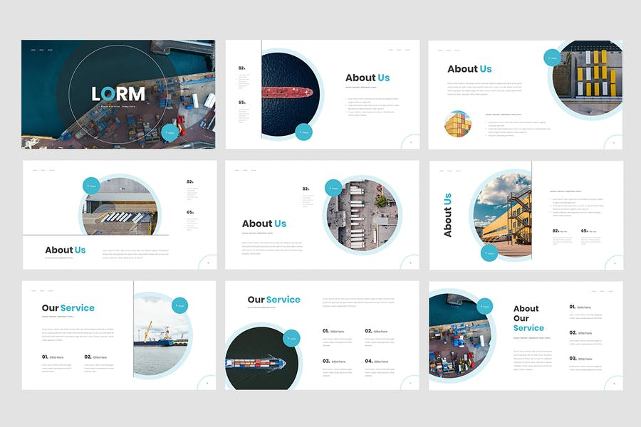 Lorm - International Logistic Powerpoint Template - 0