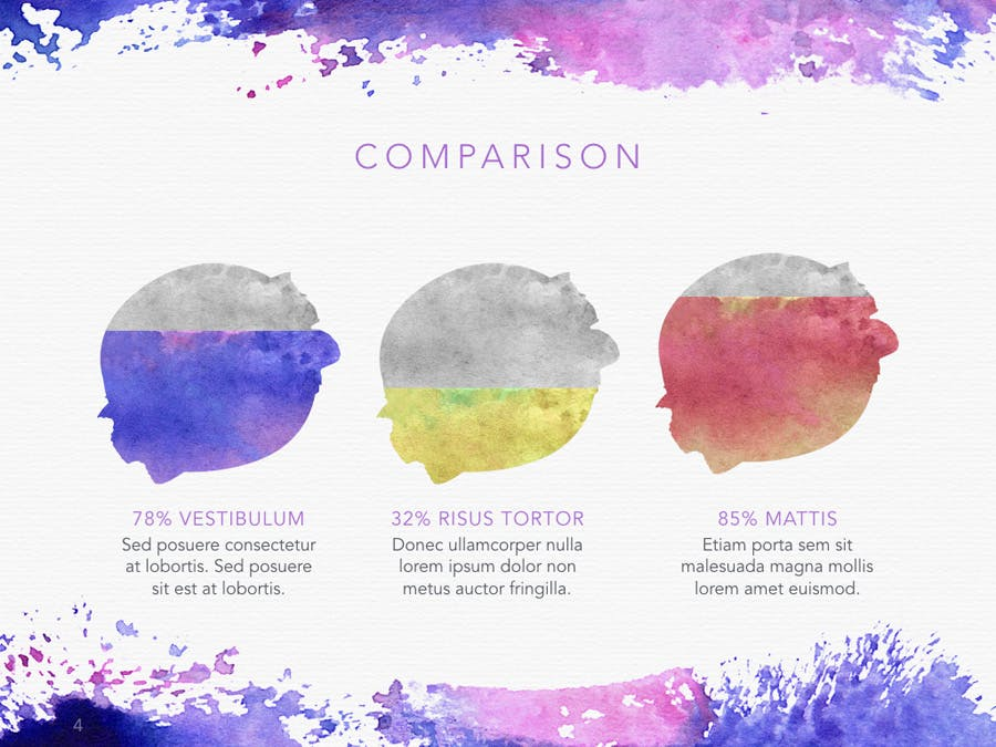 Watercolor PowerPoint Template - 2