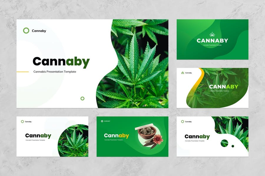 Cannaby - Cannabis Presentation Templates - 0