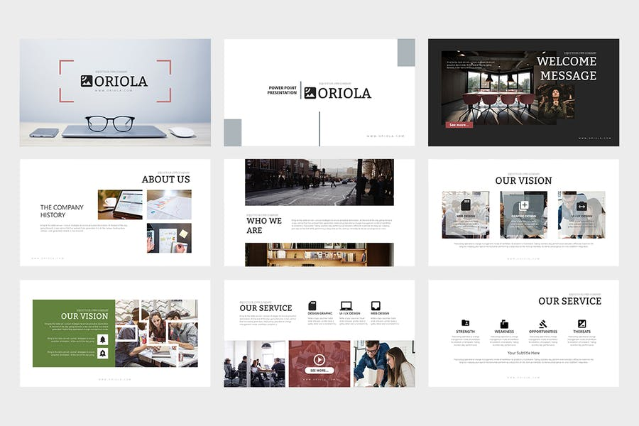 Oriola : Business Powerpoint Template - 0
