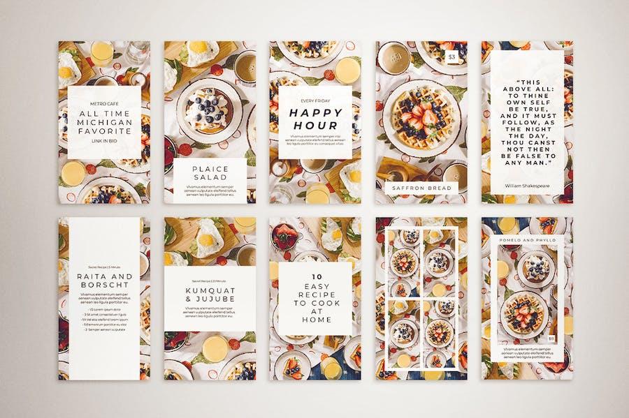 Food Instagram Post & Instagram Story Template - 3