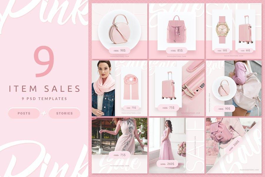 Pink Fashion - Instagram Posts & Stories - 1