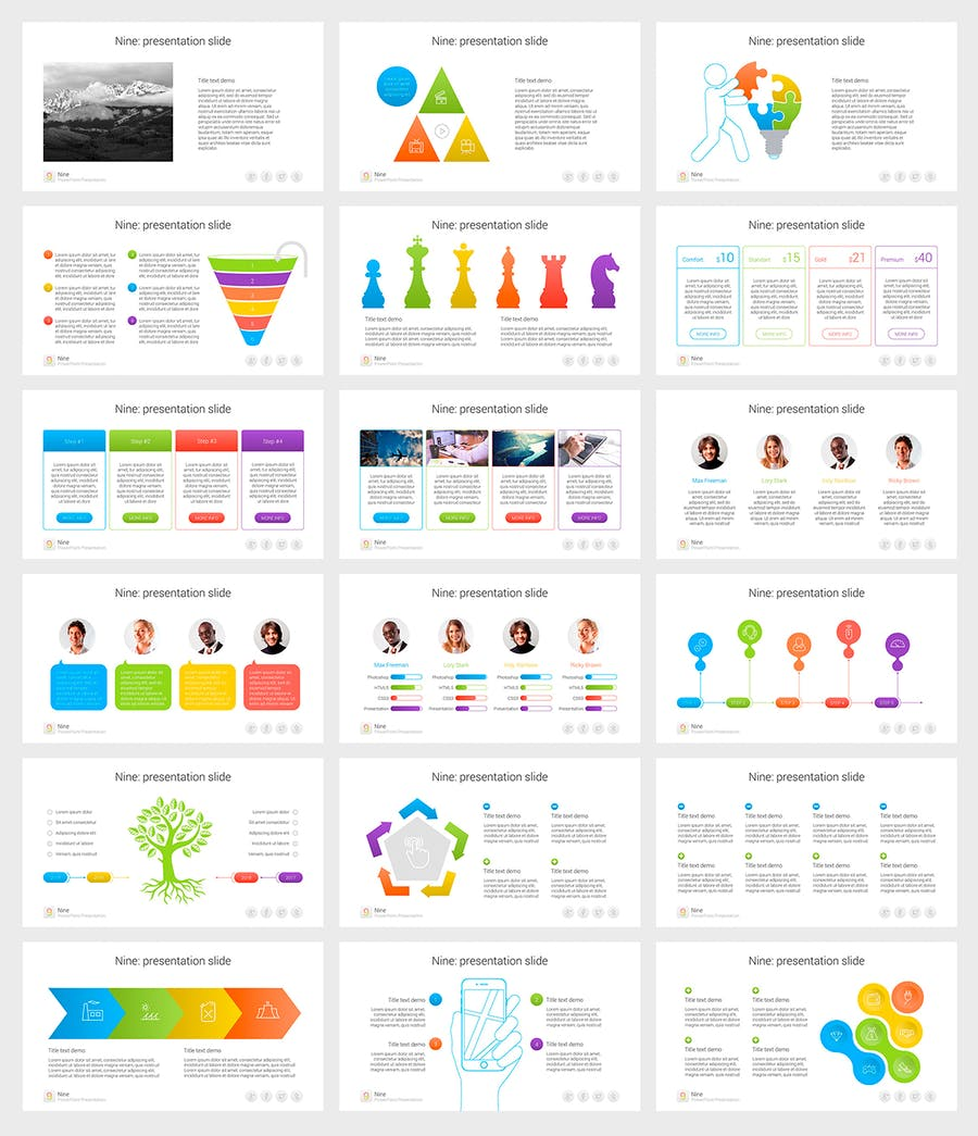Nine - Multipurpose PowerPoint Template - 3