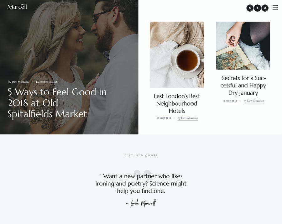 Marcell - Personal Blog & Magazine WordPress Theme - 1