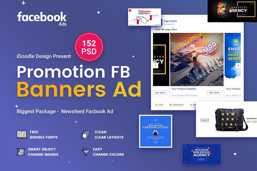 Promotion Facebook Ads - 152PSD - 0