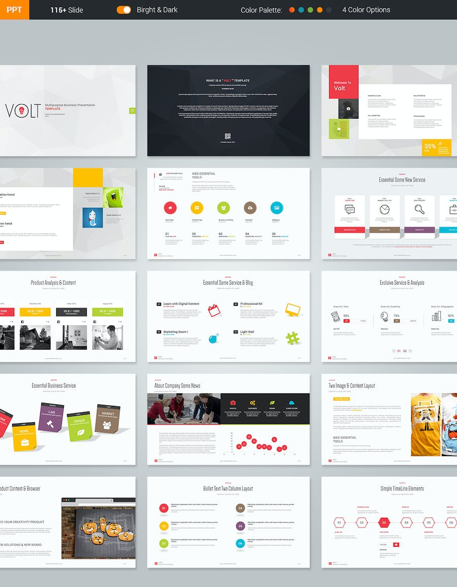 Volt Multipurpose Template - 2