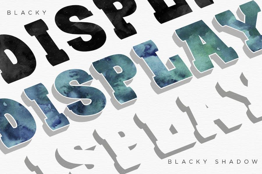 BLACKY Typeface - 2