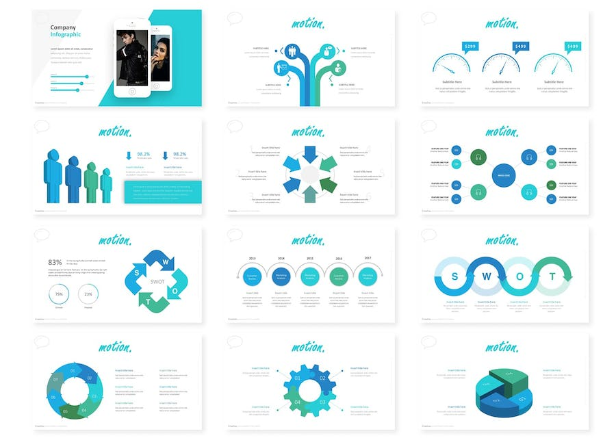 Motion - Powerpoint Template - 1