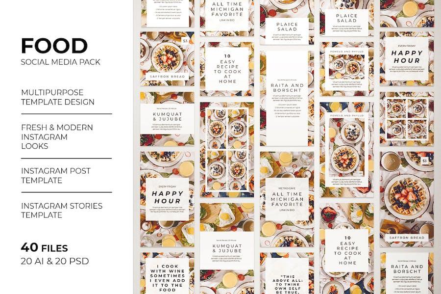 Food Instagram Post & Instagram Story Template - 0