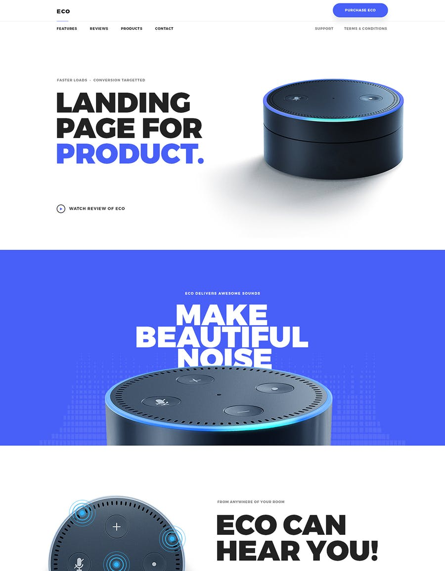 Eco - HTML Product Landing Page - 0