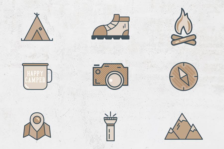 Outdoor Flat Icons - 1