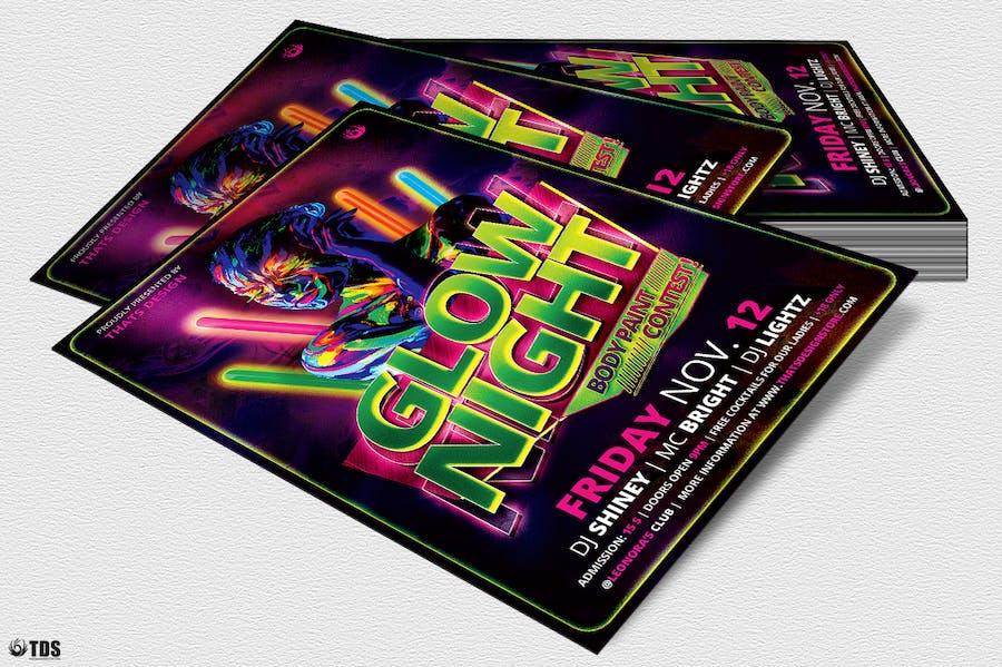 Glow Night Flyer Template - 2