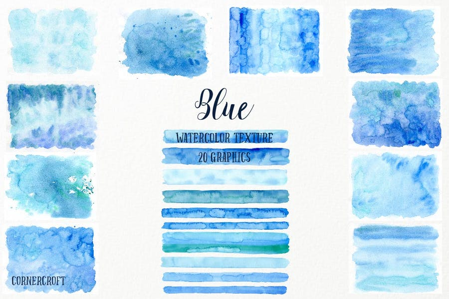 Watercolor Texture Blue - 0