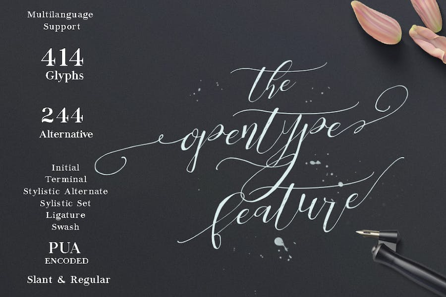 Be Grateful Script wedding Signature - 1