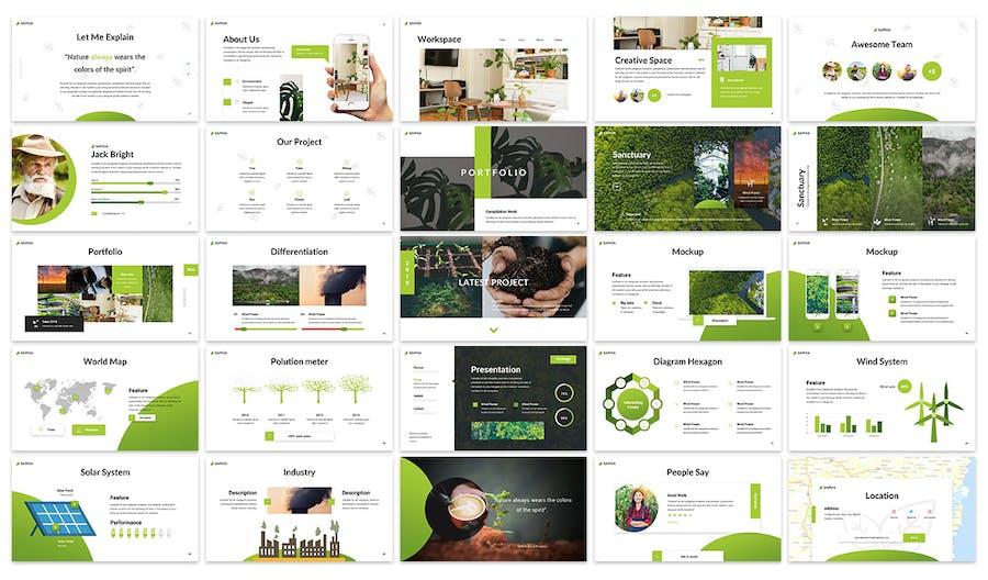 Samoa - Go Green Campaign Google Slides Template - 0