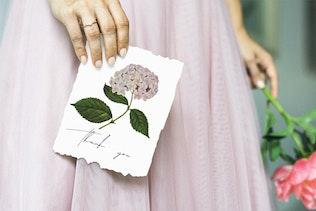Beautiful retro flowers - illustrations set - 1