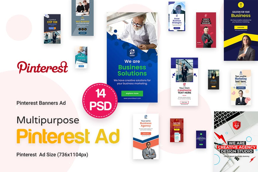 Pinterest Multipurpose, Business Ad - 0