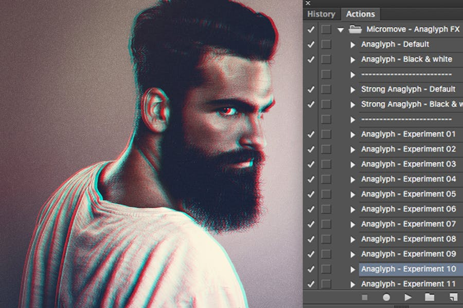 Anaglyph Photoshop Actions - 0