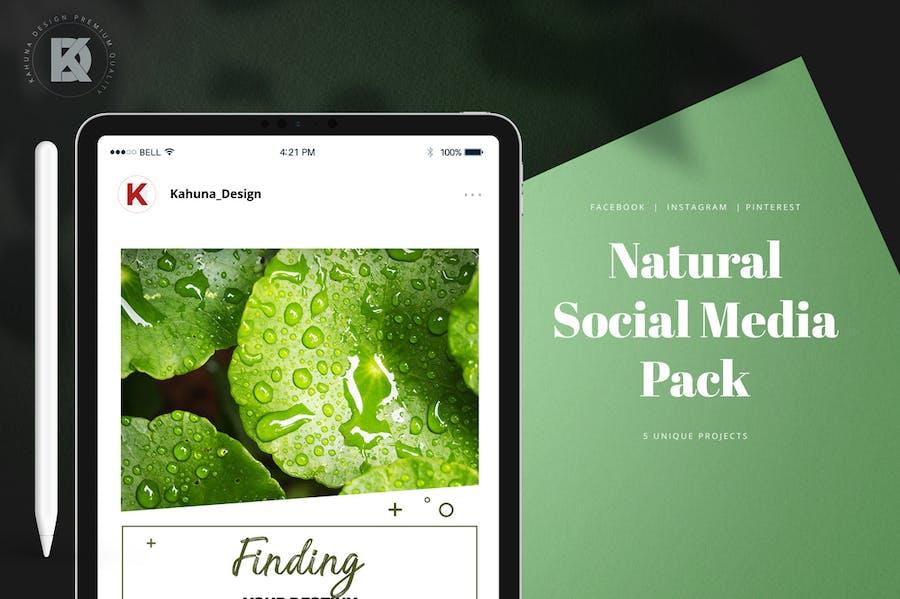 Natural Green Social Media Pack - 0