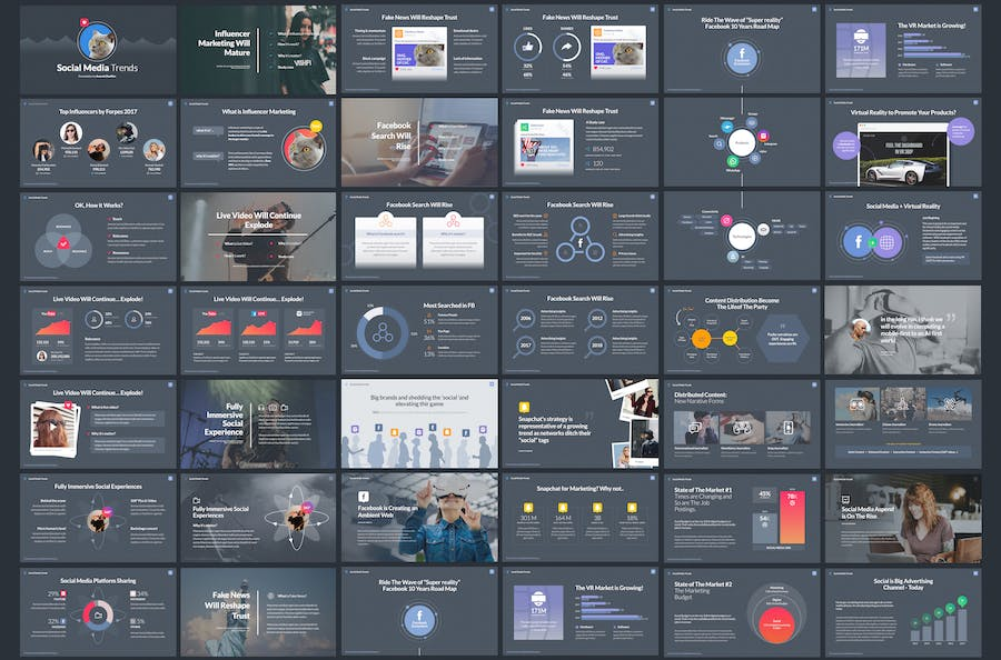 Social Media Trends - Powerpoint Template - 0
