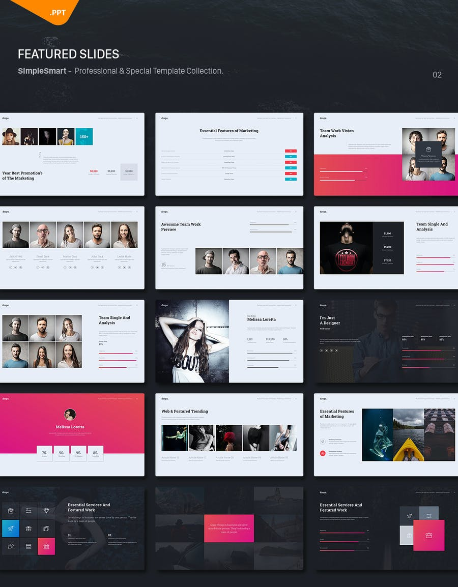 Drops - Creative & Multipurpose Theme (Powerpoint) - 1