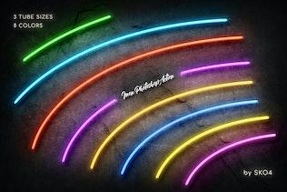 Neon Photoshop Action - 0