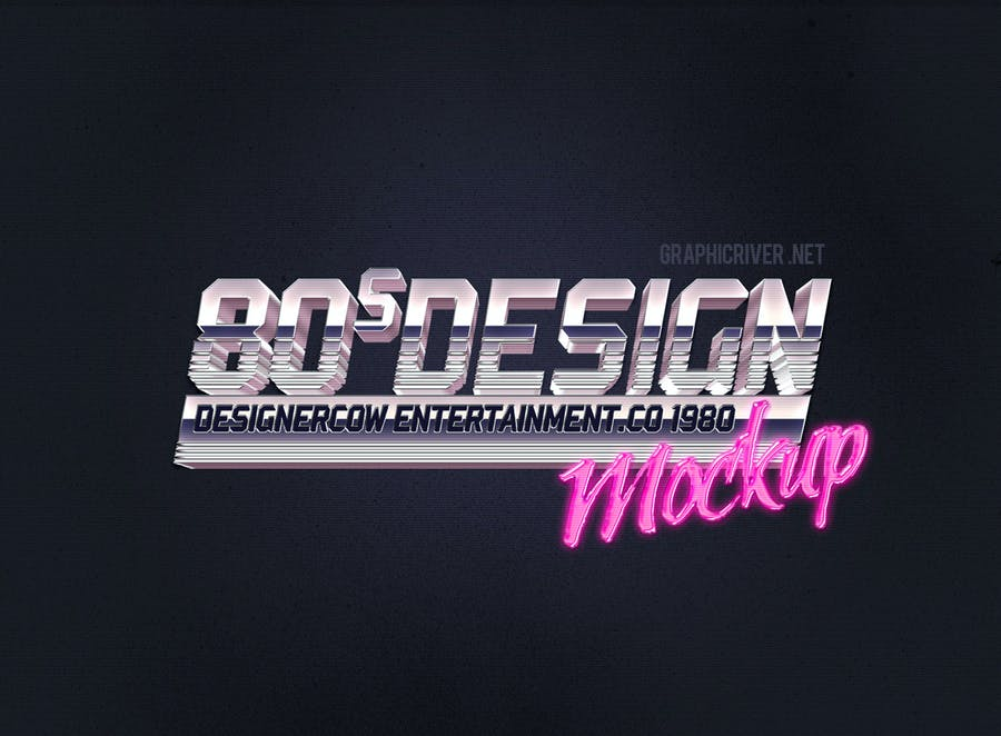 80's Style Text Mockups V1  - 1