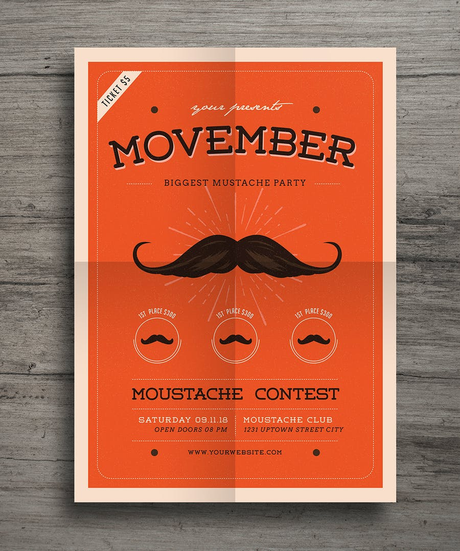 Movember Event Flyer - 2