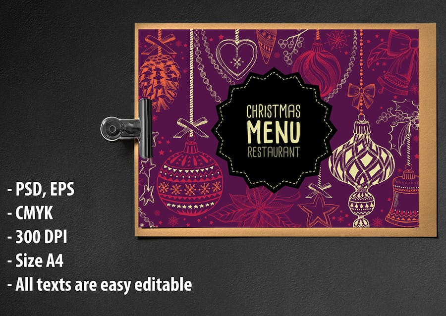 Christmas Menu Restaurant Template - 0