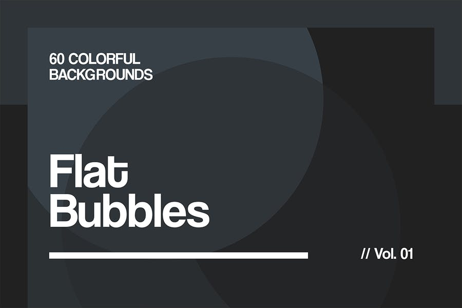 Flat Bubbles | Colorful Backgrounds | Vol. 01 - 1